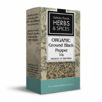 Infinity Foods Organic Black Pepper Ground 25g